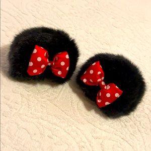 Minnie Mouse ear clips